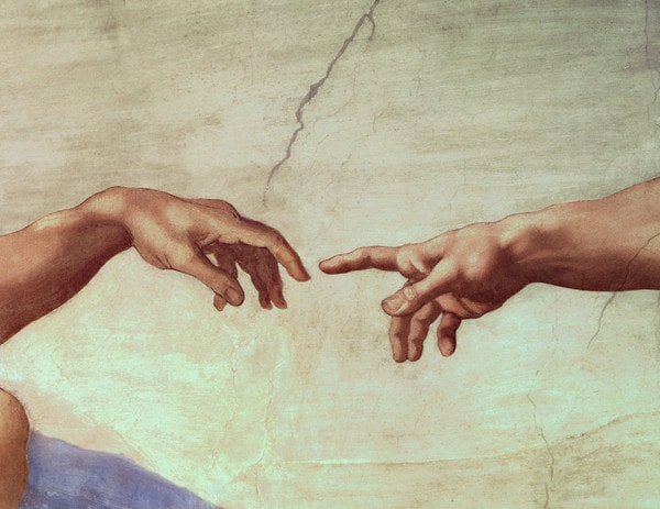 Michelangelo Hands Of God and Adam