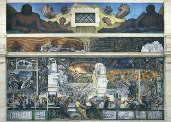 Diego Rivera Detroit Industry, North Wall