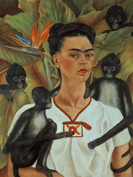 Frida Kahlo Self Portrait with Monkeys