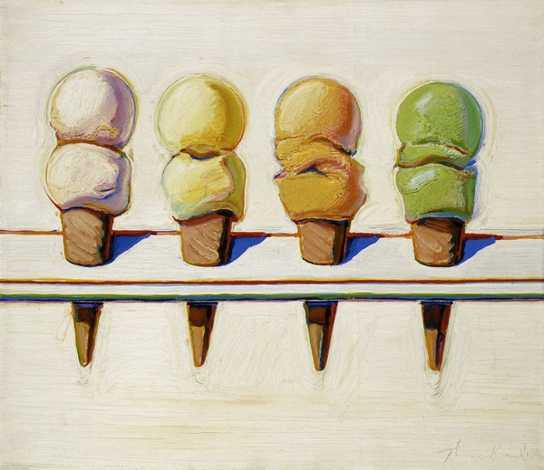 Thiebaud, Four Ice Cream Cones