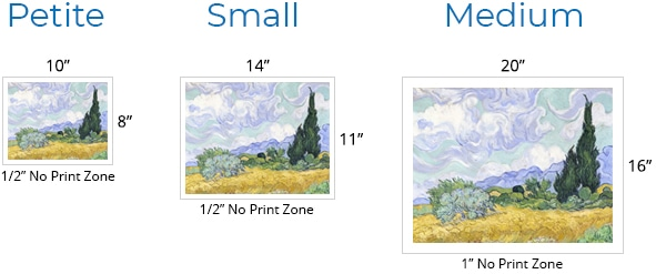 Product Sizes Unframed Small Landscape